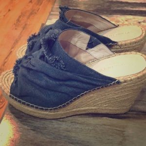 Kenneth Cole denim wedge heels